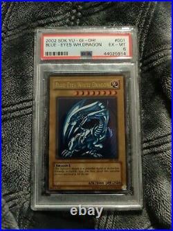 Yu-Gi-Oh 2002 Blue-Eyes White Dragon SDK #001 PSA 6
