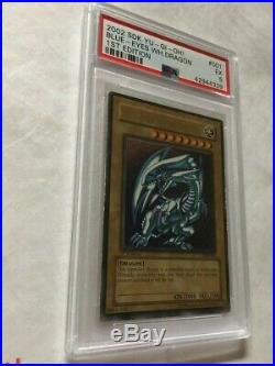 Yu-Gi-Oh! 2002 Kaiba Blue Eyes White Dragon SDK-001 1st Edition PSA 5