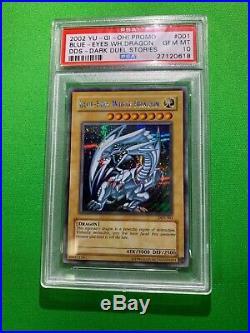 Yu-Gi-Oh! Blue-Eyes White Dragon DDS-001 Prismatic Secret Rare PSA GEM MINT 10