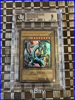 Yu-Gi-Oh! Blue-Eyes White Dragon LOB-001 1st Ed Wavy BGS 9