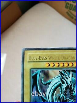 Yu-Gi-Oh! Blue-Eyes White Dragon. LOB-001. 1st Edition. Light played