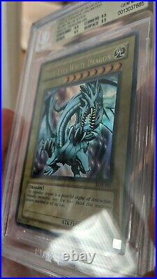 Yu-Gi-Oh! Blue-Eyes White Dragon LOB-001 BGS 9.5 GEM MINT PSA 10 Equivalent