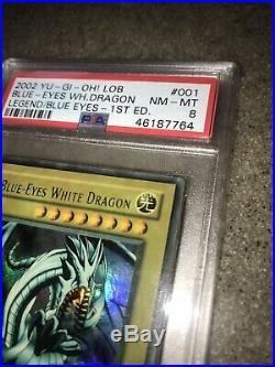Yu-Gi-Oh Blue Eyes White Dragon LOB 1st Edition PSA 8