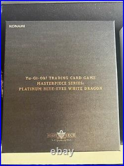 Yu Gi Oh Blue-Eyes White Dragon Masterpiece Series Silver Platinum (IN HAND)