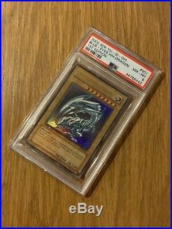 Yu-Gi-Oh! Blue-Eyes White Dragon SDK-001 1st Edition Ultra Rare PSA 8 NM-MT