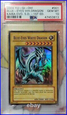 Yu-Gi-Oh! Blue-Eyes White Dragon SKE-001 1st Edition Super Rare PSA 10