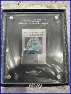 Yu Gi Oh Blue-Eyes White Dragon TCG Masterpiece Series Silver Platinum IN HAND