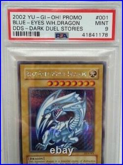 Yu-Gi-Oh! DDS Blue-Eyes White Dragon (English PSA9 MINT) DHL free shipping