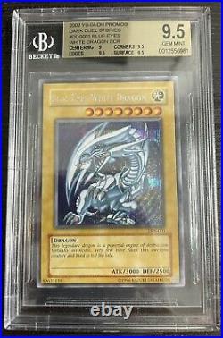 Yu-Gi-Oh! Dark Duel Stories Blue-Eyes White Dragon DDS-001 Secret Rare GEM 9.5