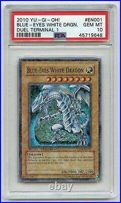 Yu-Gi-Oh! Duel Terminal 1 Super Rare Blue-Eyes White Dragon DT01-EN001 PSA 10