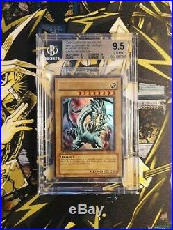 Yu-Gi-Oh! LOB-001 Blue Eyes White Dragon 1st Edition wavy Gem Mint BGS 9.5/PSA10