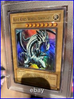 Yu-Gi-Oh! LOB 1st Edition Blue-Eyes White Dragon LOB-001 NA English EX-MT PSA 6