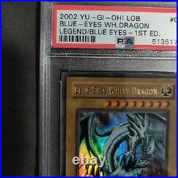 Yu-Gi-Oh! Legend of Blue-Eyes 1st Blue-Eyes White Dragon LOB-001 PSA 5