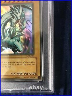Yu-Gi-Oh! Legend of Blue-Eyes Blue-Eyes White Dragon LOB-001 1st Ed PSA 9 Mint