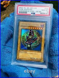 Yu-Gi-Oh! Legend of Blue-Eyes White Dragon 1st Ed Dark Magician LOB-005 PSA 10