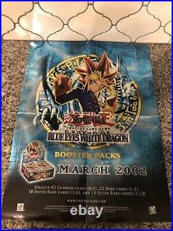Yu-Gi-Oh! Legend of Blue-Eyes White Dragon LOB Poster Store Box Display HTF