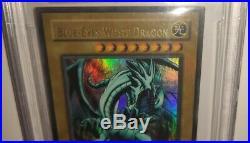 Yu-Gi-Oh! NEAR MINT BGS 7.5 Blue-Eyes White Dragon LOB-001 1st Edition
