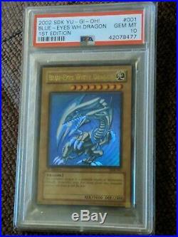 Yu-Gi-Oh! PSA 10 Blue-Eyes White Dragon SDK-001 1st Edition Ultra Rare GEM MINT