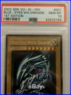 Yu-Gi-Oh! PSA 10 Blue-Eyes White Dragon SDK-001 1st Ultra GEM MINT (See photos)