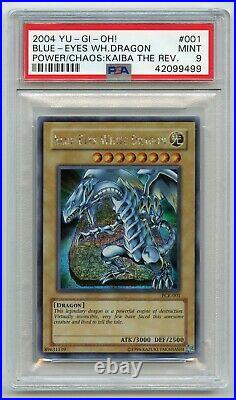 Yu-Gi-Oh! Power of Chaos Kaiba Blue-Eyes White Dragon PCK-001 Secret PSA 9 MINT