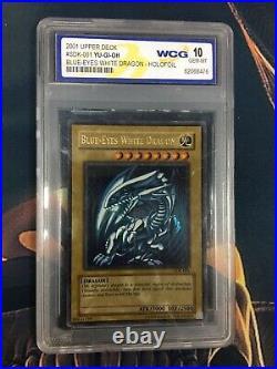 Yu-Gi-Oh! WCG Graded Mint 10 Blue-Eyes White Dragon Starter Deck Kaiba SDK-001