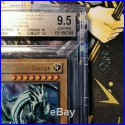 Yu-Gi-Oh! Wavy LOB-001 Blue Eyes White Dragon 1st Edition Gem Mint BGS 9.5/PSA10