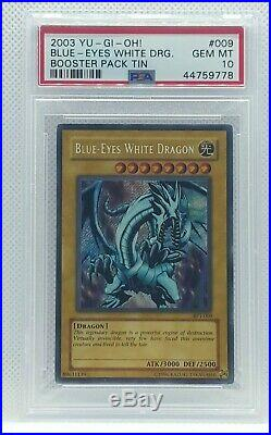 Yu-gi-oh 2003 Collector Tin Blue-eyes White Dragon Bpt-009 Psa 10
