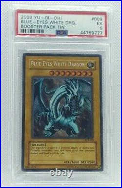 Yu-gi-oh 2003 Collector Tin Blue-eyes White Dragon Bpt-009 Psa-5