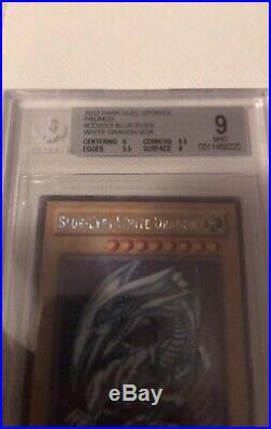 YuGiOh BGS 9 Blue-Eyes White Dragon DDS-001 Secret Rare Near Mint Almost A 9.5
