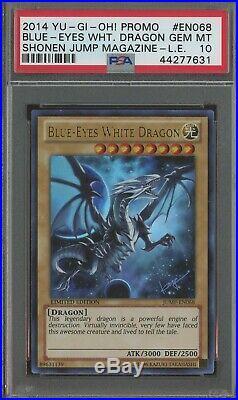 YuGiOh Blue-Eyes White Dragon JUMP-EN068 Promo Graded PSA 10 GEM MINT ULTRA RARE
