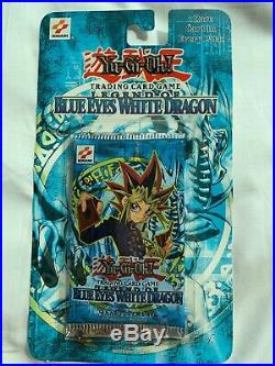 YuGiOh LOB Unlimited Legend of Blue Eyes White Dragon SEALED Blister Pack USED