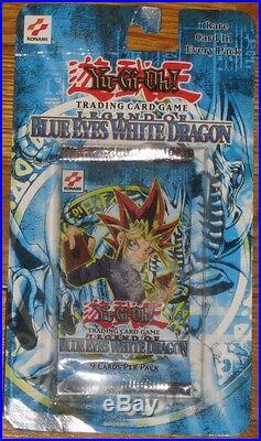 YuGiOh! Legend of Blue Eyes White Dragon Booster Pack! Blister/Rack Display RARE