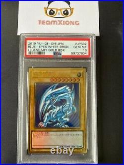 YuGiOh PSA 10 GEM MINT LGB1-JPS02 Blue Eyes White Dragon Premium Gold Rare