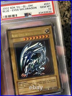YuGiOh PSA 10 SDK Blue Eyes White Dragon
