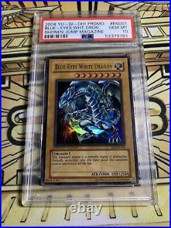 YuGiOh Shonen Jump Blue-Eyes White Dragon JMP-EN001 Ultra Rare PSA 10 GEM MINT