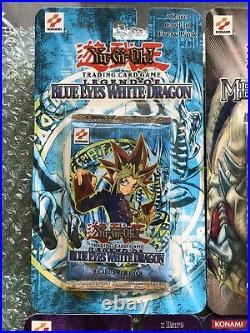 Yugioh 1st Edition Blister Booster Pack Set Legend of Blue Eyes White Dragon