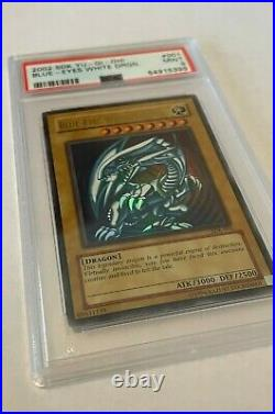 Yugioh 2002 Blue Eyes White Dragon Sdk-001 Mint Ultra R Holo Psa 9