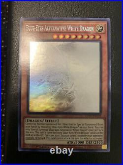 Yugioh Blue-Eyes Alternative White Dragon Ghost Rare Near Mint 1st Edition GFTP