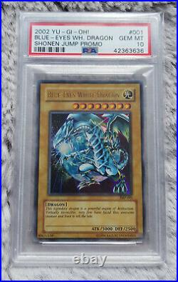 Yugioh Blue-Eyes White Dragon 2002 Shonen Jump Promo (JMP-001) PSA 10 GEM MINT