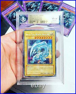Yugioh Blue Eyes White Dragon DDS-001 Secret Rare BGS 9.5 PSA 10 Gem Mint