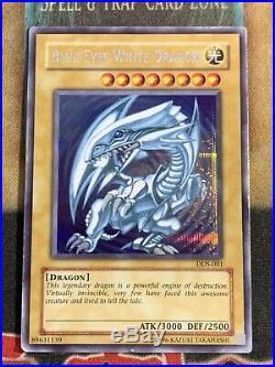 Yugioh Blue-Eyes White Dragon DDS-001 Secret Rare Dark Duel Stories Promo HP