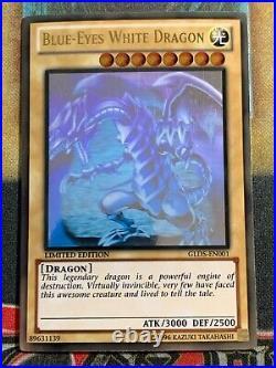 Yugioh Blue-Eyes White Dragon GLD5-EN001 Gold Ghost Rare NM