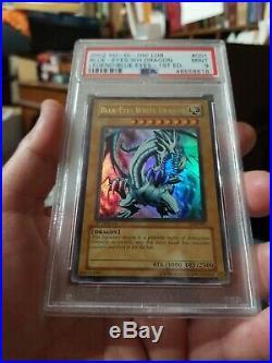 Yugioh Blue Eyes White Dragon LOB 001 1st Ed PSA 9 MINT condition Extremely Rare