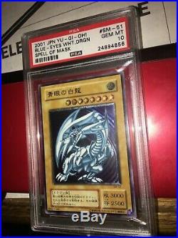 Yugioh Blue Eyes White Dragon PSA 10 Gem Mint SM-51 Spell Of Mask