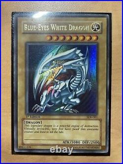 Yugioh Blue-Eyes White Dragon SDK-001 1st Edition LP
