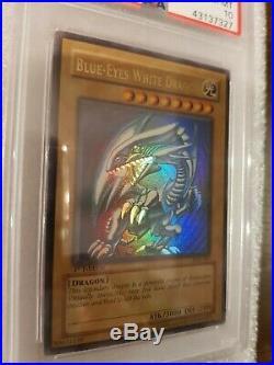 Yugioh Blue-Eyes White Dragon SDK-001 1st Edition PSA 10