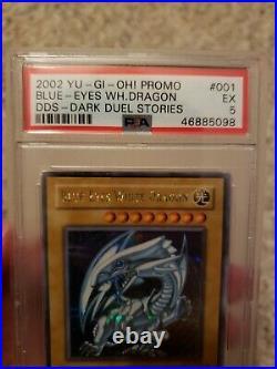 Yugioh Blue-Eyes White Dragon Secret Rare 2002 DDS-001 PSA 5 Hard to Find