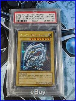 Yugioh DDS-001 Blue Eyes White Dragon Secret Rare PSA 10