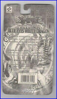 Yugioh Factory Sealed Legend of Blue Eyes White Dragon Blister Pack RARE 2002