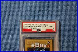 Yugioh JapaneseBlue-Eyes White DragonSecret Rare Jump Festa 2000 Promo PSA 9